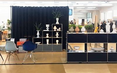 Stand von H+B Bürorama: USM & Linck Keramik