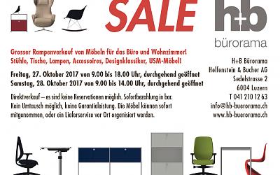 Grosser Rampenverkauf von Möbeln für Büro und Wohnzimmer