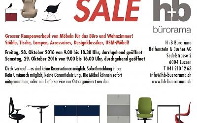 Grosser Rampenverkauf von Möbeln für das Büro und Wohnzimmer!